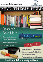 PhD Thesis Writing Services in USA